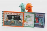 Set van twee Knuffels: Draakje Vurig  en Draakje Vurig oranje/rood_