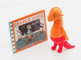 Set Knuffel Draakje  + boek Draakje Vurig op school _