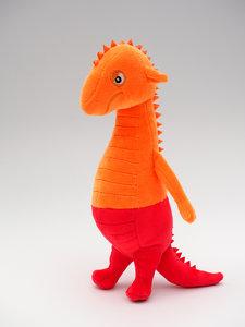 Draakje Vurig knuffel (oranje/rood)
